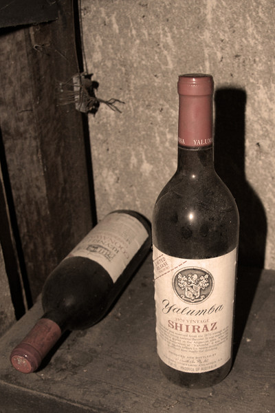 The house has a cellar, and there are more bottles of old wine down there.