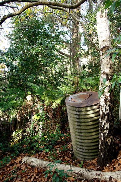 The garden has its own water tank.