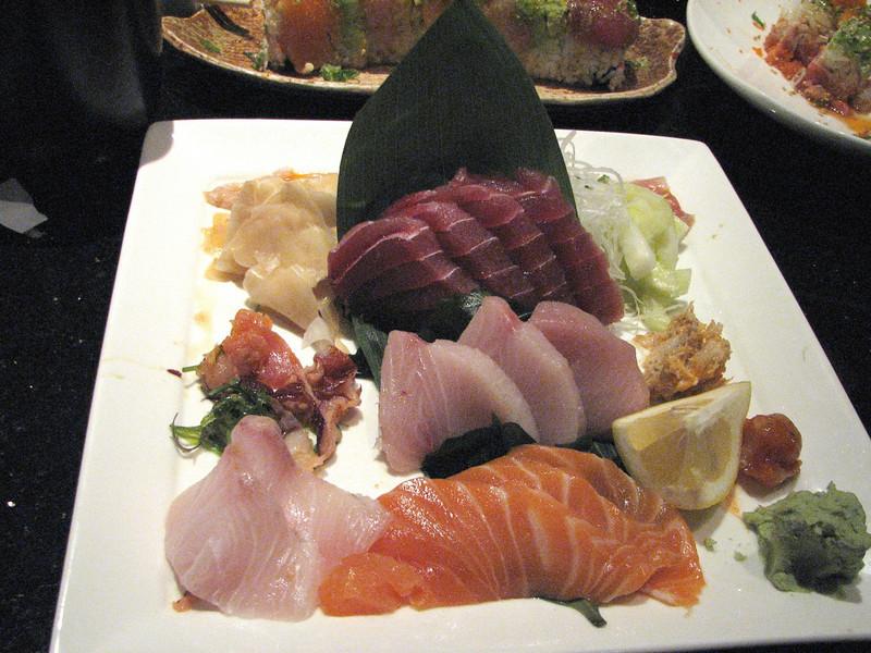 2008 03 15 Sat - Toros - Sashimi dinner
