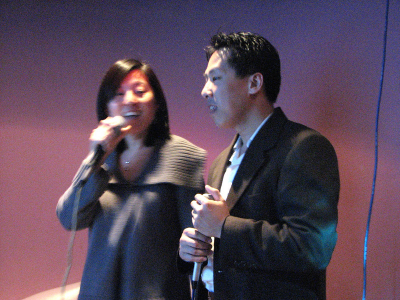 2008 03 15 Sat - Orchid - Sojin Kim & Larry Lee karaokeing 2