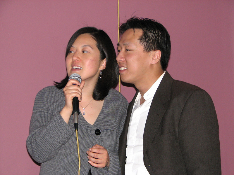 2008 03 15 Sat - Orchid - Sojin Kim & Larry Lee karaokeing 1