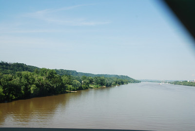 Crossing the Ohio River from West Virginia to Ohio -