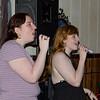 Mindy and Sarah Beth singing karaoke