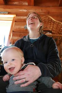 Jenny and Redden having fun.