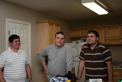 David, Sam and James (cartoon conversation).