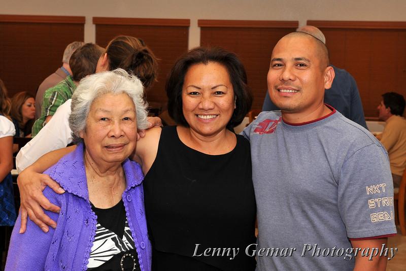 Amparo Marcelino, Claire Gemar, and Boy Marcelino