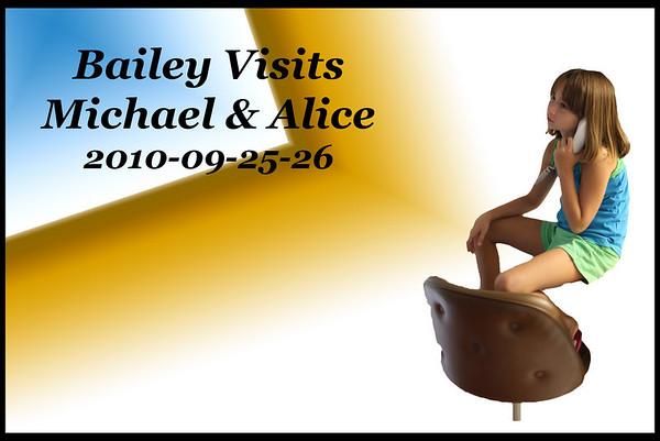 2010-09-25-26 Bailey Visits Michael & Alice