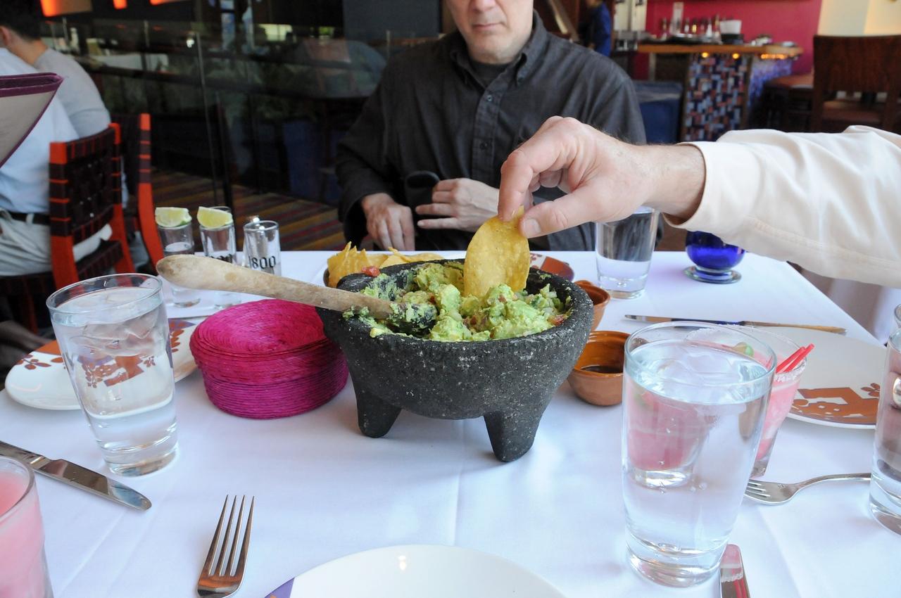 Fresh Guacamole - yum.