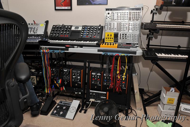 Paul's music studio (okay, a little part of it.)