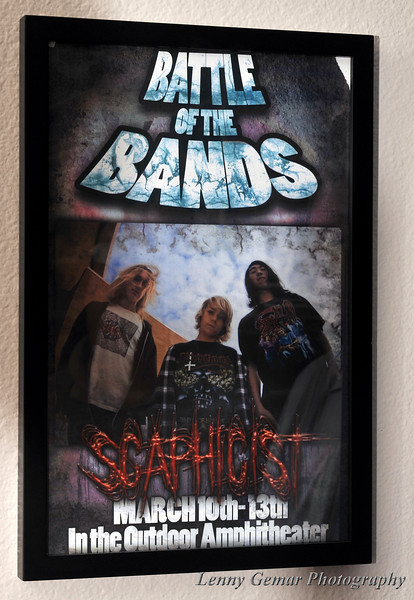 """Poster of one of Paul's bands, Scaphicist. As so often happens, bands come and go. His current music can be found at <a href=""""http://www.soundcloud.com/unarius"""" target=""""_blank"""">http://www.soundcloud.com/unarius</a>"""