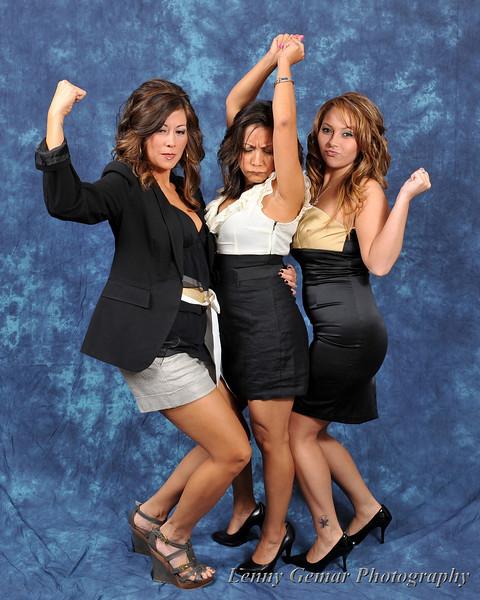 Olivia Marie Fogle, Angie Moulich, and Jennifer Cortes.