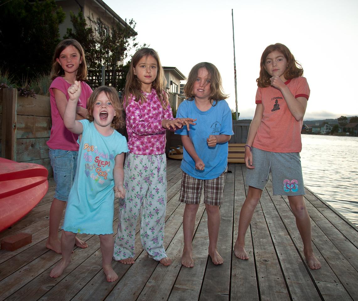 <b>Katie O'Dea, Zoe O'Dea, Kate Baker, Ali O'Dea, Devin Acosta </b>&nbsp &nbsp &nbsp Stinson Beach, California. August 18, 2010.