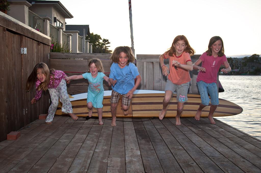 <b>Kate Baker, Zoe O'Dea, Ali O'Dea, Devin Acosta, Katie O'Dea </b>&nbsp &nbsp &nbsp Stinson Beach, California. August 18, 2010.