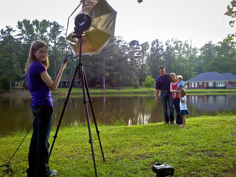 May 11, 2011 - Behind the scenes photos of John David Pyle shooting John David Helms (and son John David Helms) and family :)   Photo by Jen Owens.