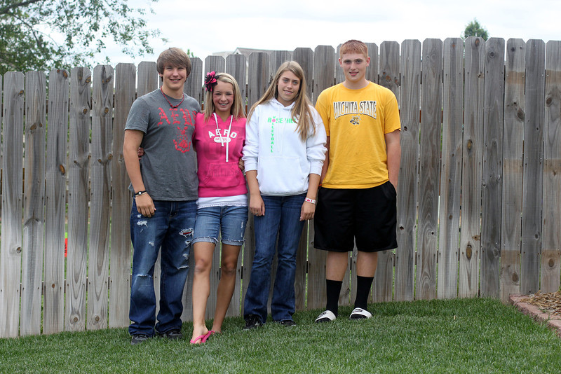 Kyler Ehm, Kate Wilson, Madison Degnan, and Logan Scott