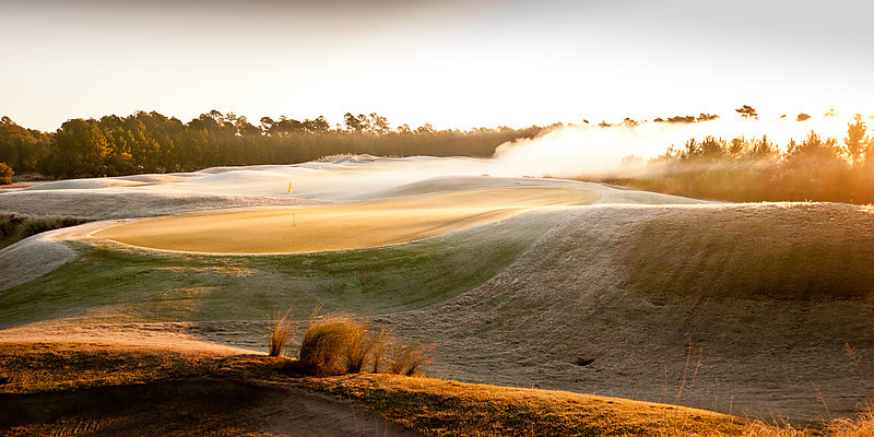 Frost at Sunrise, Hole #18, The Moorlands