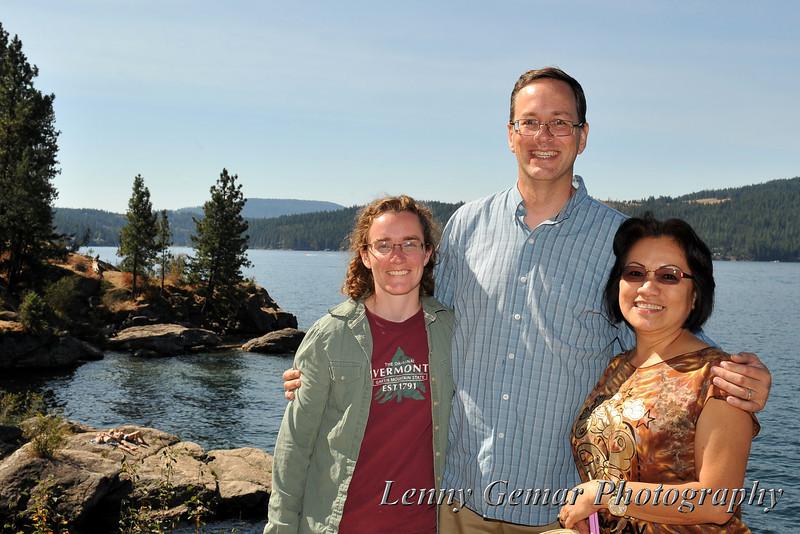 Sandra Pratt, Charles Pratt, and Claire Gemar