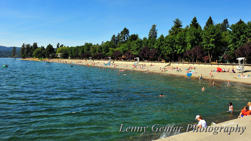 Coeur d'Alene City Beach and Park.