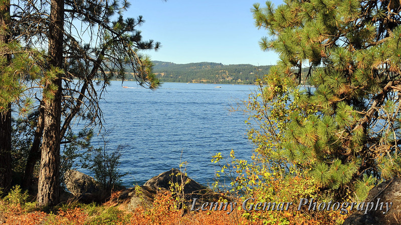 The trail around the perimeter of the park never strays far from Lake Coeur d'Alene.