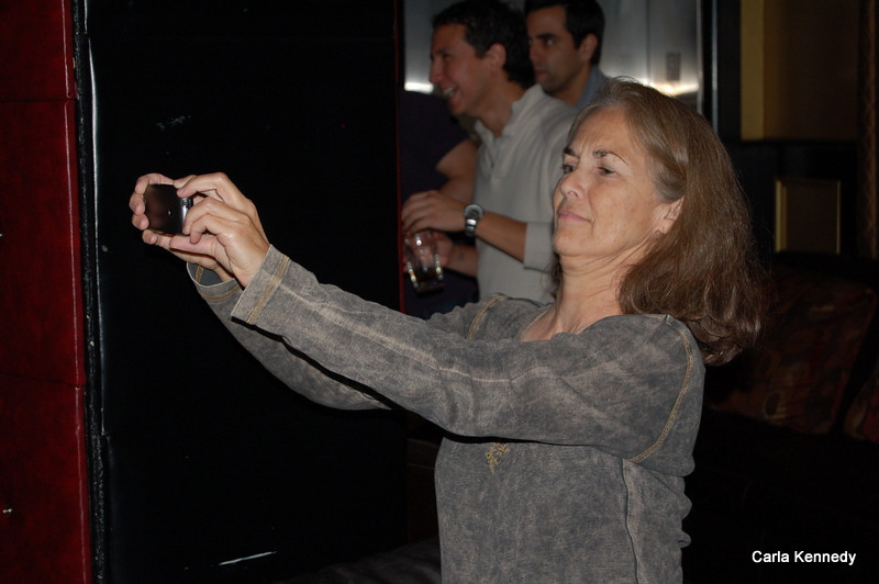 Snapped a picture of Kathy as she was taking a picture