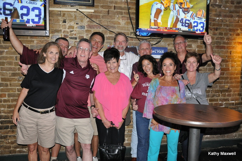 Kathy Maxwell shared this picture of the Bell Gang and Wives <br /> @ The Ticket Bar and Grill where they watched the Aggie Game.<br /> Aggies 29 Alabama 24  WHOOP!