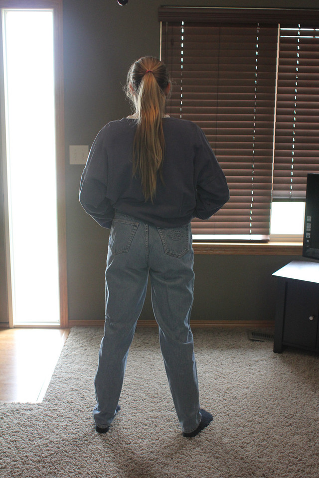 80s<br /> Madison wearing 80s jeans...