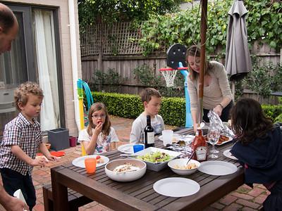 Paul, Narelle, Josh, Anna and Daniel BBQ lunch