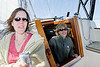 Sailing in Buzzards Bay for Liney's 50th birthday with Jane & Garry Douglas, Liney Bolick, Ebit Speers, David McCormick, and Kenny. Sailboat courtesy of Jane and Garry.