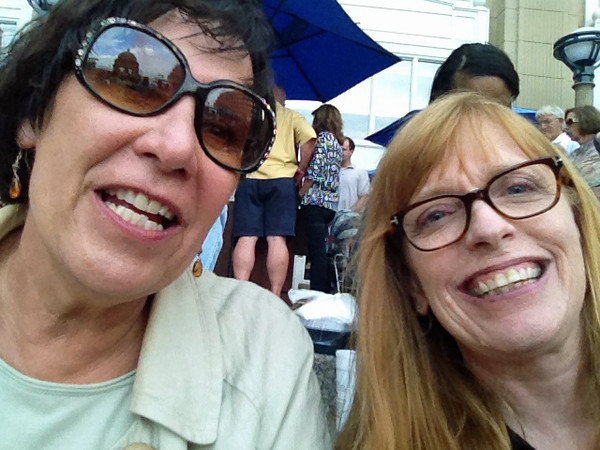 Spruce and Nancy selfies at Blues Barge