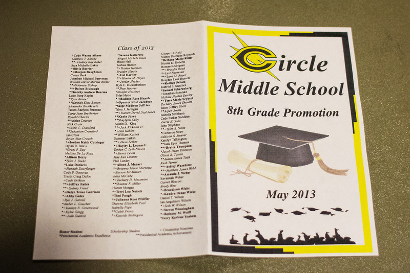 Circle Middle School Promotion