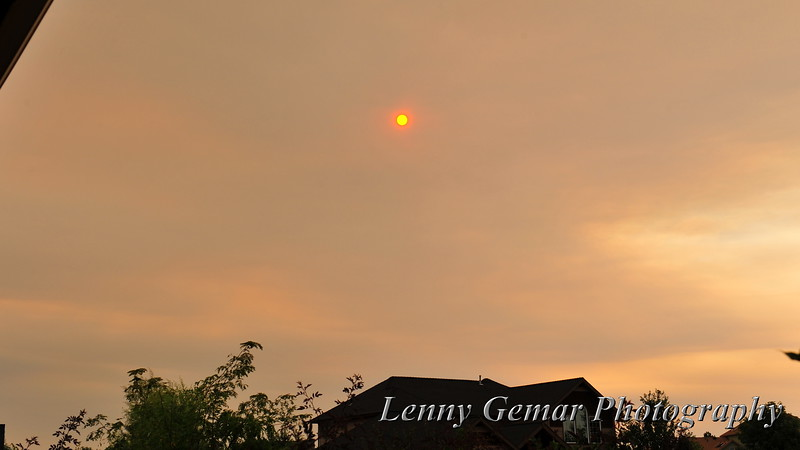 The sun descends on a hot, smoky day...  Time to party!