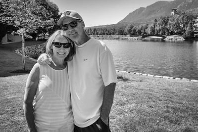 Pam and Randy - The Broadmoor Hotel grounds