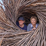 Lindsey & Anita in the Bird Nest on Top of Ajax