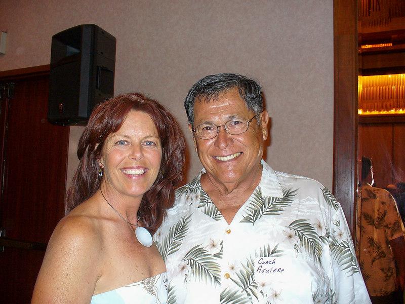 Julie and Coach Aguirre