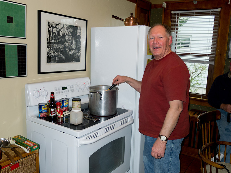 Dick Austin, one of the original group and our Champion Chili Cook.  He won the contest some years back with this recipe.  If he sells his house here in the next year then he likely won't be back again as he's retiring to live in St. Petersburg, FL.