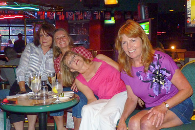 Marriott, Long Beach Hotel Bar, Friday, July 15, 2011, Sammye Splawn Lacy, Cyndi Wagner Douglass, Nancy Babin McLemore, Colleen Connelly Stanovich