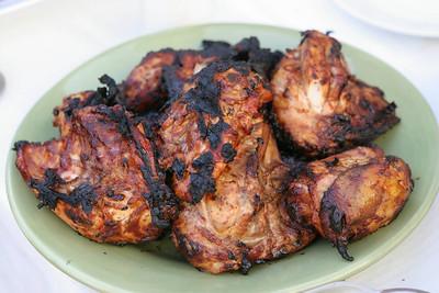 Yummmm, crunchy chicken skin....