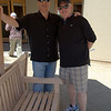 Steve & Donnie on the patio at Merry Edwards
