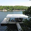 This huge dock is just below their home in a beautiful cove of the 80 mile long lake.