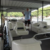All aboard...this is one classy pontoon boat!