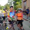 OUR HOST, JIM, AND CYCLIST, VICKY. NICE SMILES!