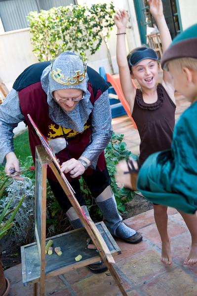 REDONDO BEACH, CALIFORNIA — Sandy Cull's medieval Robin Hood birthday party. Photo taken on Sunday, November 22nd, 2009 by Tom Sorensen/Moovieboy Pictures.