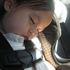 Sleeping in the Hyundai Sonata.