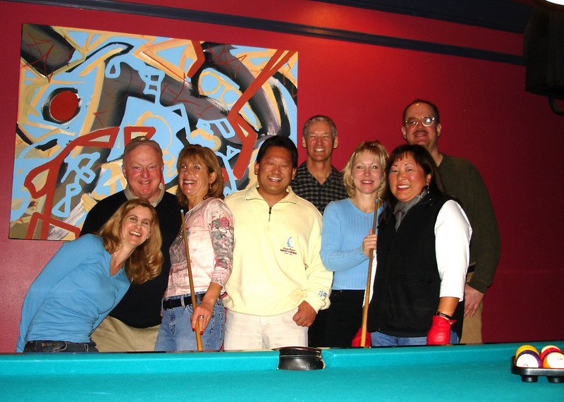 Billiards on B Street<br /> (Jennifer, Bob. Denise, ?, Bill, Sandy, Angie, Don)