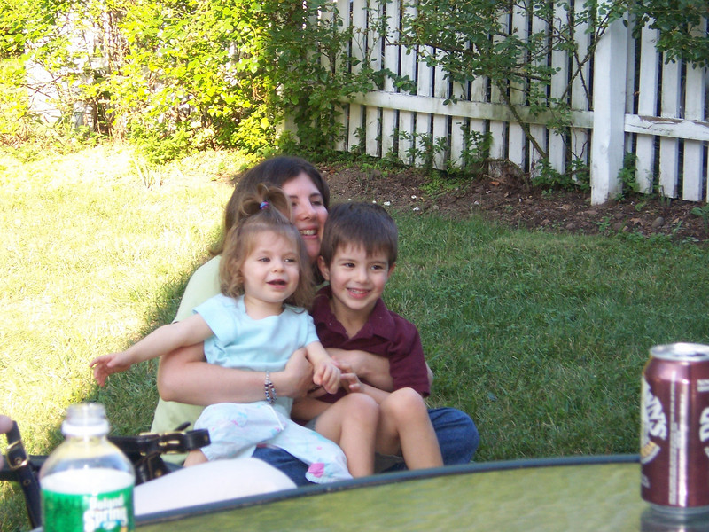 Meryl and the kids (Aaron and Maia).