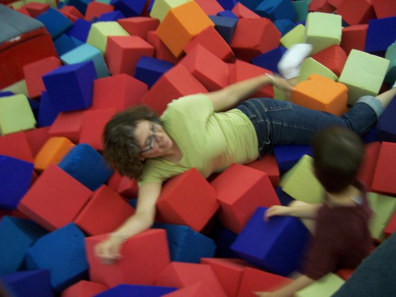 Aaron and Aunt Roberta havin' too much fun.