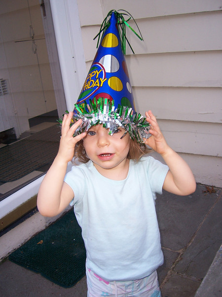 Everyone loves the birthday hat!
