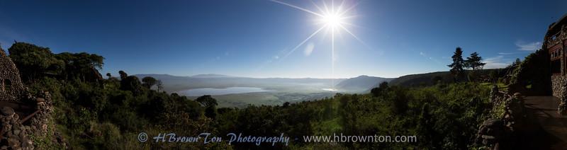 Panoramic of Ngorongoro Crater
