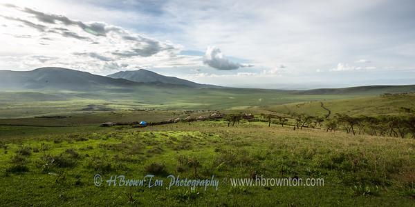 Overlooking Maasai Village below