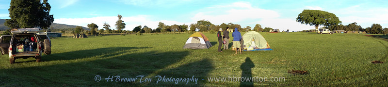 View of our camp site on Ngorongoro Crater rim